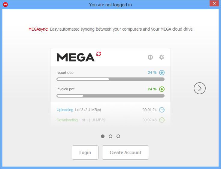 account mega